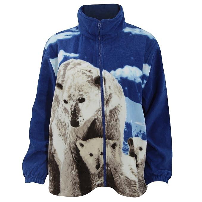 Chaqueta Polar con diseño Animal Oso Polar para Mujer ...