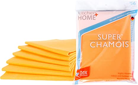 "LOT OF 3-Original 20/""X27/"" Orange Super Absorbent German Shammy Cloths"