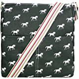 Ladies Horse Canvas Satchel Messenger Saddle Shoulder School Cross Body Bag