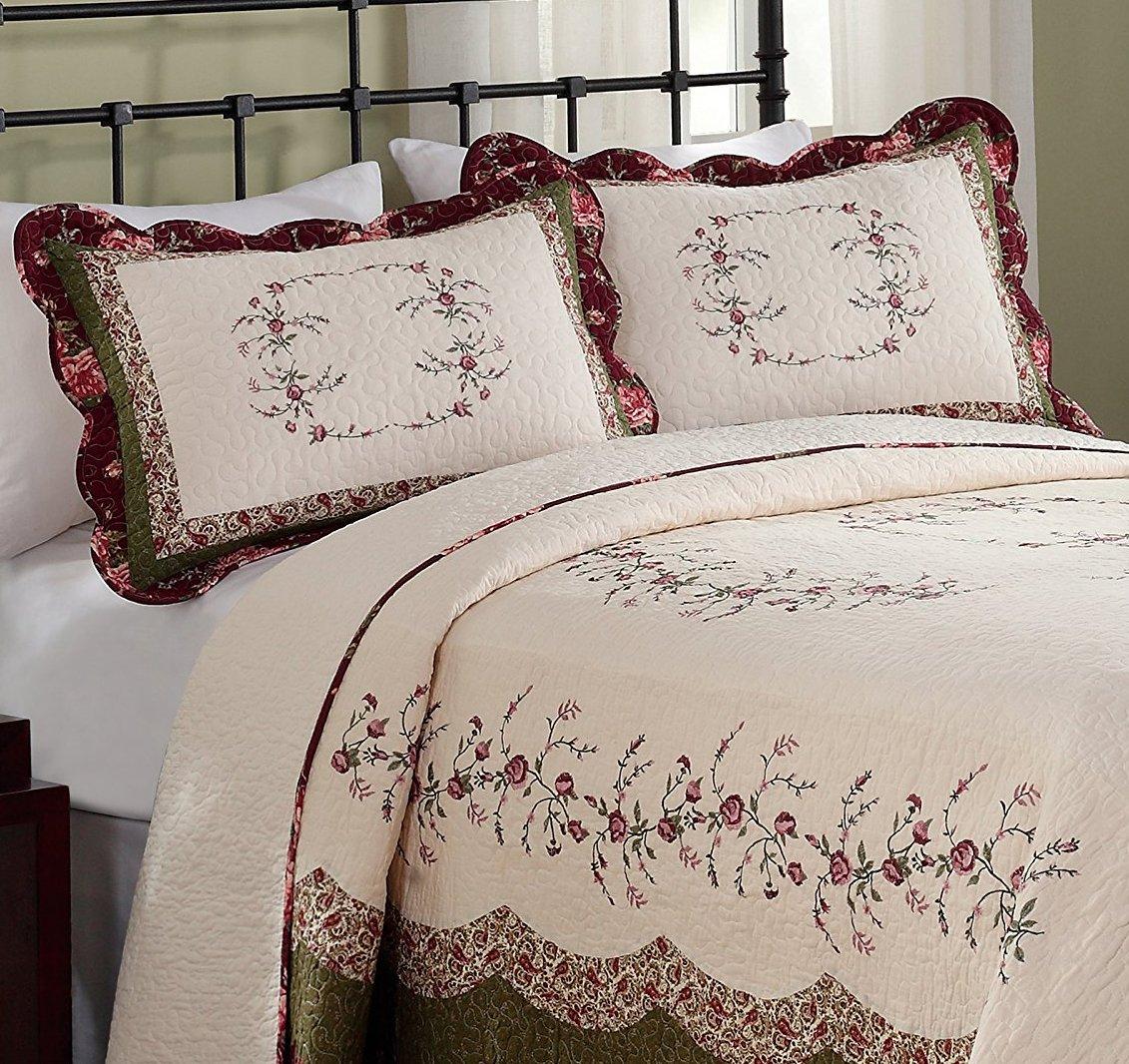 Modern Heirloom Collection Brooke Cotton Filled Bedspread