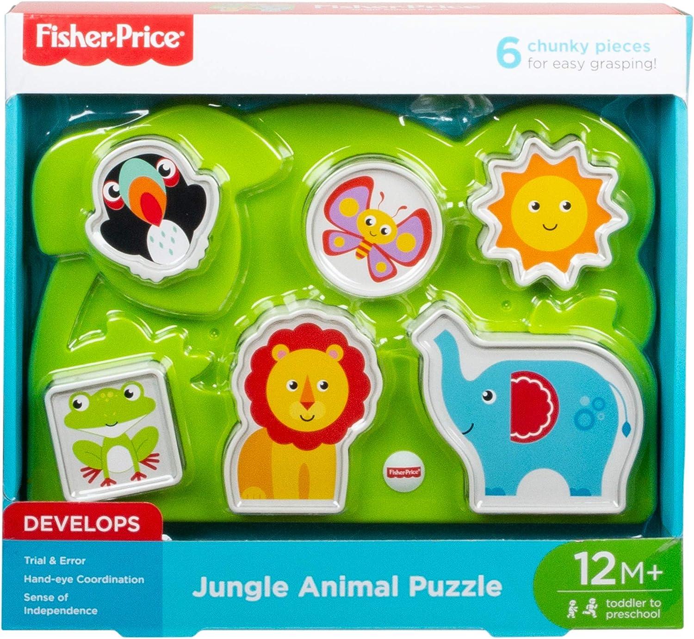 Fisher-Price Jungle Animal Puzzle,Multicolor