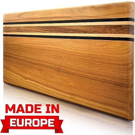 Cutting Board Wood Cutting Boards for Kitchen Chopping Board Wood Meat Cutting Board Log Cutting Board Handmade from Europe Original Presentation Serving Board New Crack free Design Cutting Board Wood