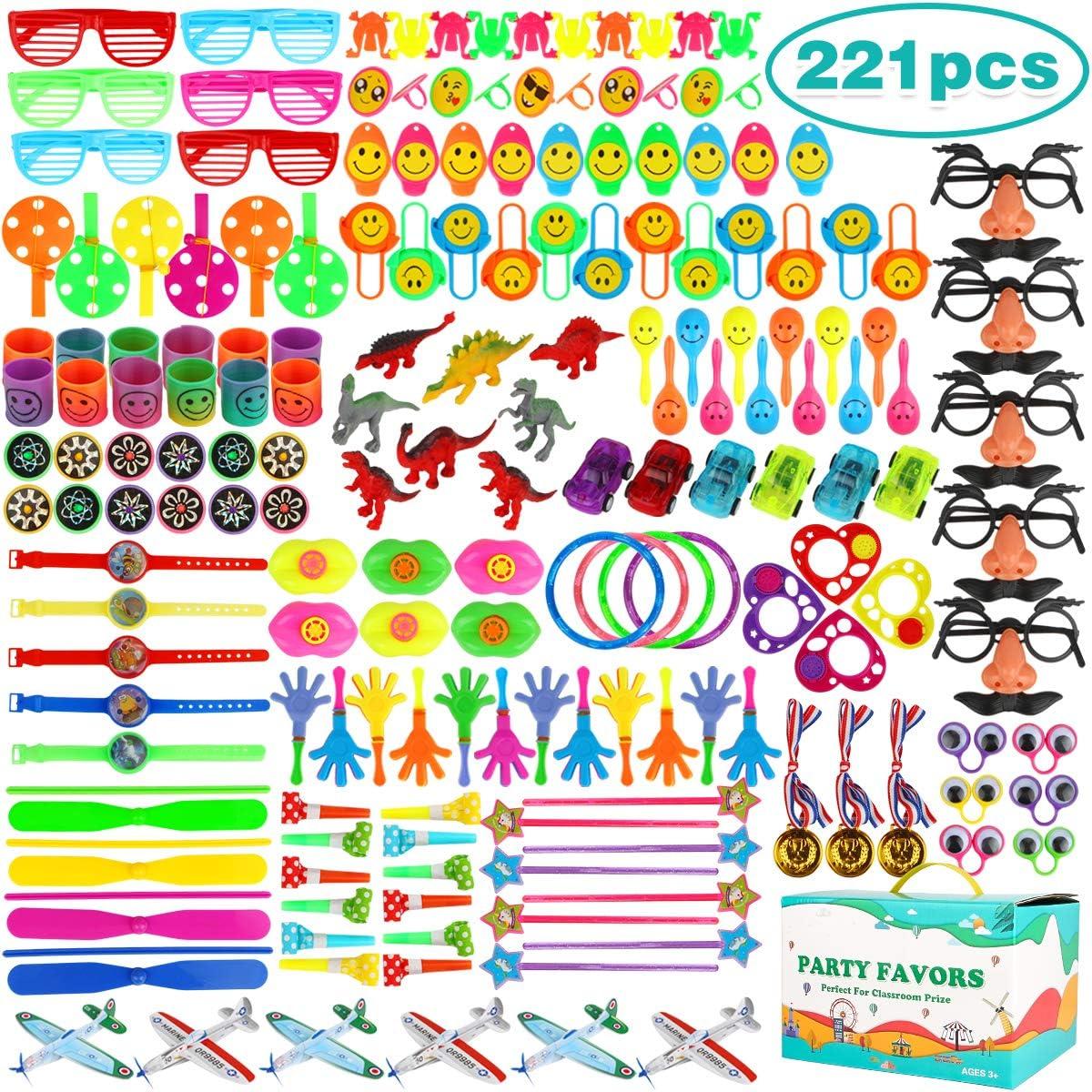 Aitbay 221PCS Party Favors for Kids Bulk, Carnival Prizes, Classroom Rewards, Pinata Filler Easter Egg Filler Toys, Birthday Party Bulk Toy Assortment Box for Boys and Girls