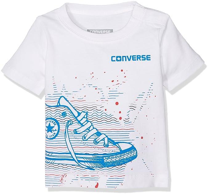 0fa2df30da4d Converse Baby Boys  Sneaker Splatter Tee T-Shirt  Amazon.co.uk  Clothing