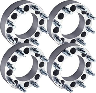 """4X 8x6.5 to 8x180 Wheel Spacers Adapter Fits Chevy /& GMC 2/"""" Thick 50mm 14x1.5"""