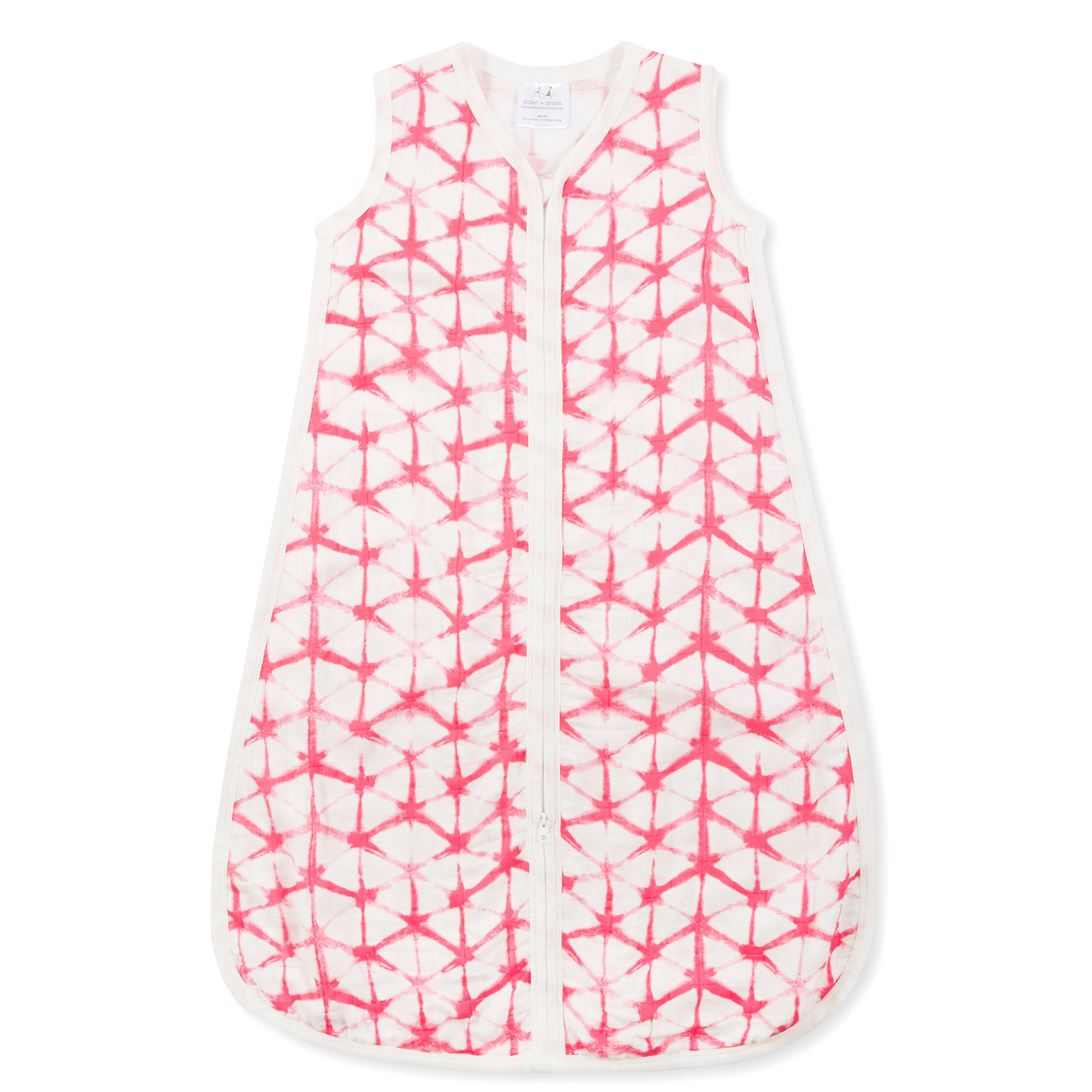 aden + anais silky soft sleeping bag; berry shibori; L