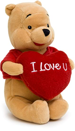 Joy Toy 1000415 - Peluche de Winnie Pooh con corazón (60 cm) [Importado