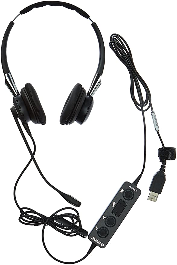 Amazon Com Jabra 2400 Ii Usb Duo Cc Wired Headset For Softphone