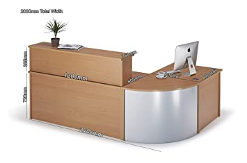 National Office Furniture Supplies Curved Beech Reception Desk