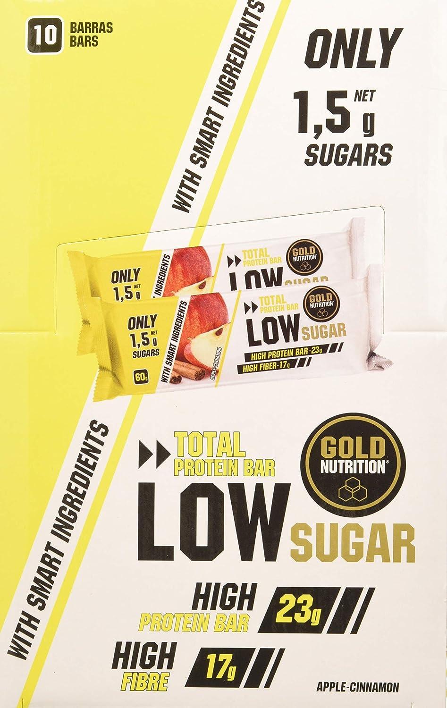 Gold Nutrition Total Protein Low Sugar Bar Manzana-Canela ...
