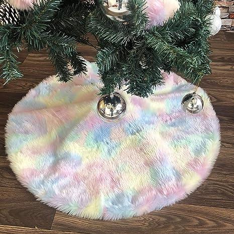 ShiyiUP wei/ß Pl/üsch Weihnachtsbaum Rock Weihnachtsbaum Boden Dekoration Weihnachtsdekorationen Baumschmuck Wei/ß 4#, 90cm