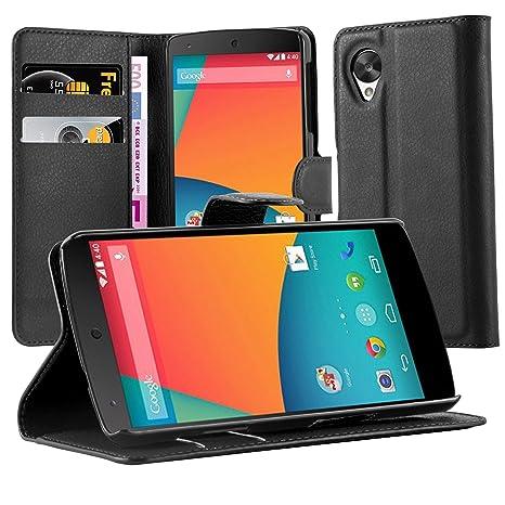 Cadorabo Funda Libro para Motorola Nexus 5 en Negro Fantasma – Cubierta Proteccíon con Cierre Magnético, Tarjetero y Función de Suporte – Etui Case ...