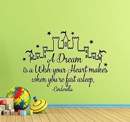 Amazon.com: Cinderella Wall Decals Cinderella Quotes Sign ...