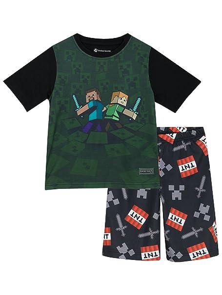 Minecraft - Pijama para Niños - Minecraft - 11 - 12 Años