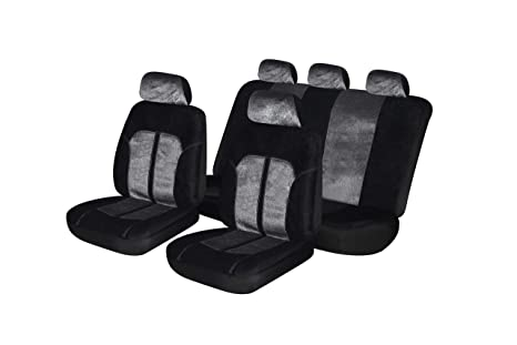 red flatcloth, Full Set Airbag Compatible Fit Most Car,Truck, SUV, or Van with headrest Autonise Universal fit Classic Sport Bucket seat Cover