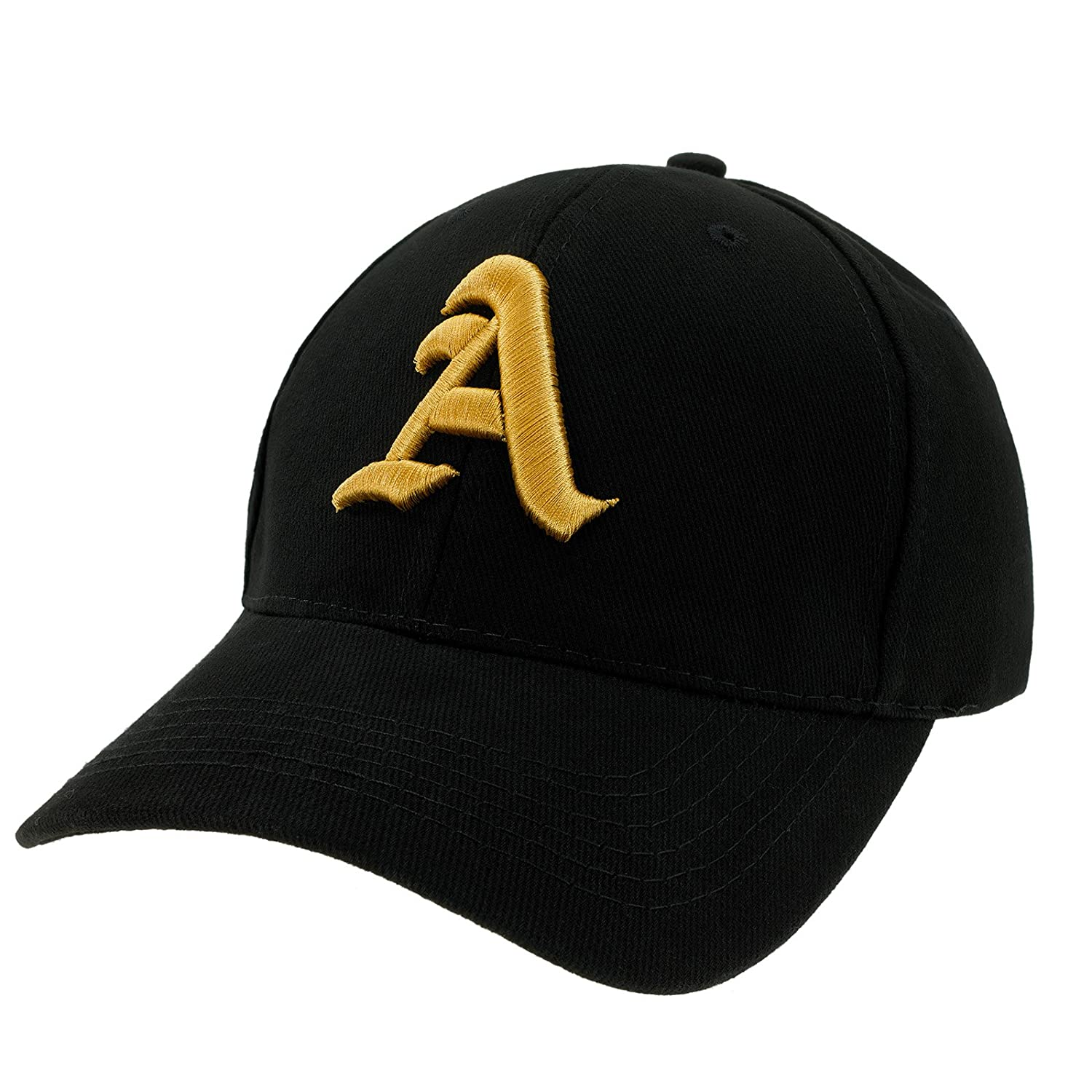 a5be5c81341 Casual Baseball Gothic B Letter Cap Caps Snap Back Hat Hats Snapback  Trucker Cap Headwear (Black A Gold)  Amazon.co.uk  Clothing