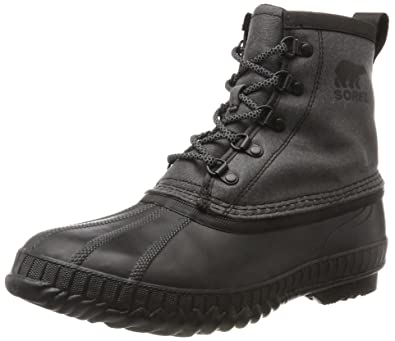 SOREL Men's Cheyanne II Short Canvas Black Boot