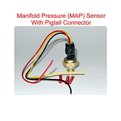 4921497 Turbocharger Boost Sensor (Map Sensor) with Pigtail Connector Fits: Fits Dodge Ram 2500 3500 1998-1999-2000-2001 5.9L.: Automotive
