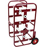 BISupply Wire Spool Rack Cable Caddy, Red - Wiring Spool Dispenser Bulk Cable Holder, Electrical Wires Dolly with Wheels
