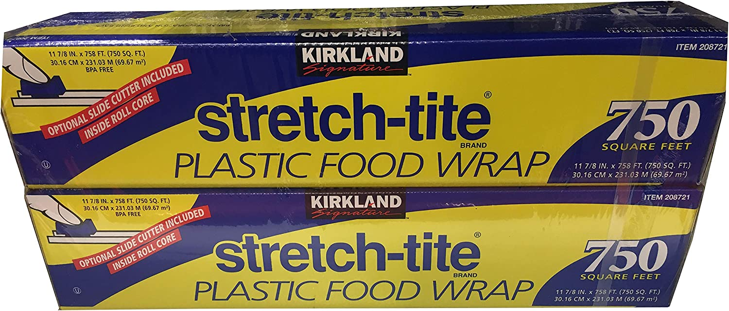 Kirkland Signature Stretch-Tite Plastic Wrap, 2 Count
