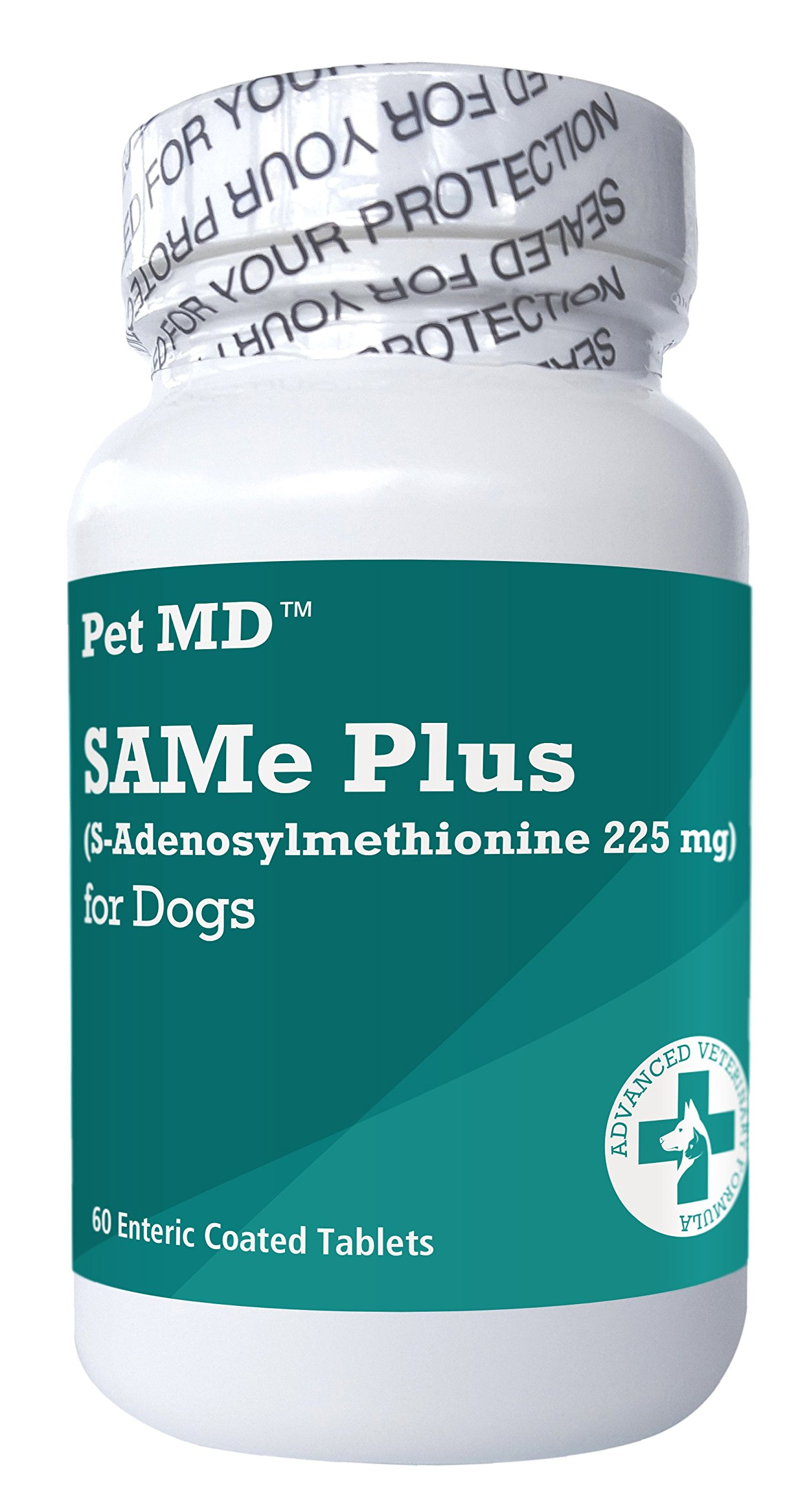 Pet MD SAMe Plus S-Adenosyl for Dogs 225 MG Hepatic Liver Supplement and Cognitive Support - 60 Count by Pet MD