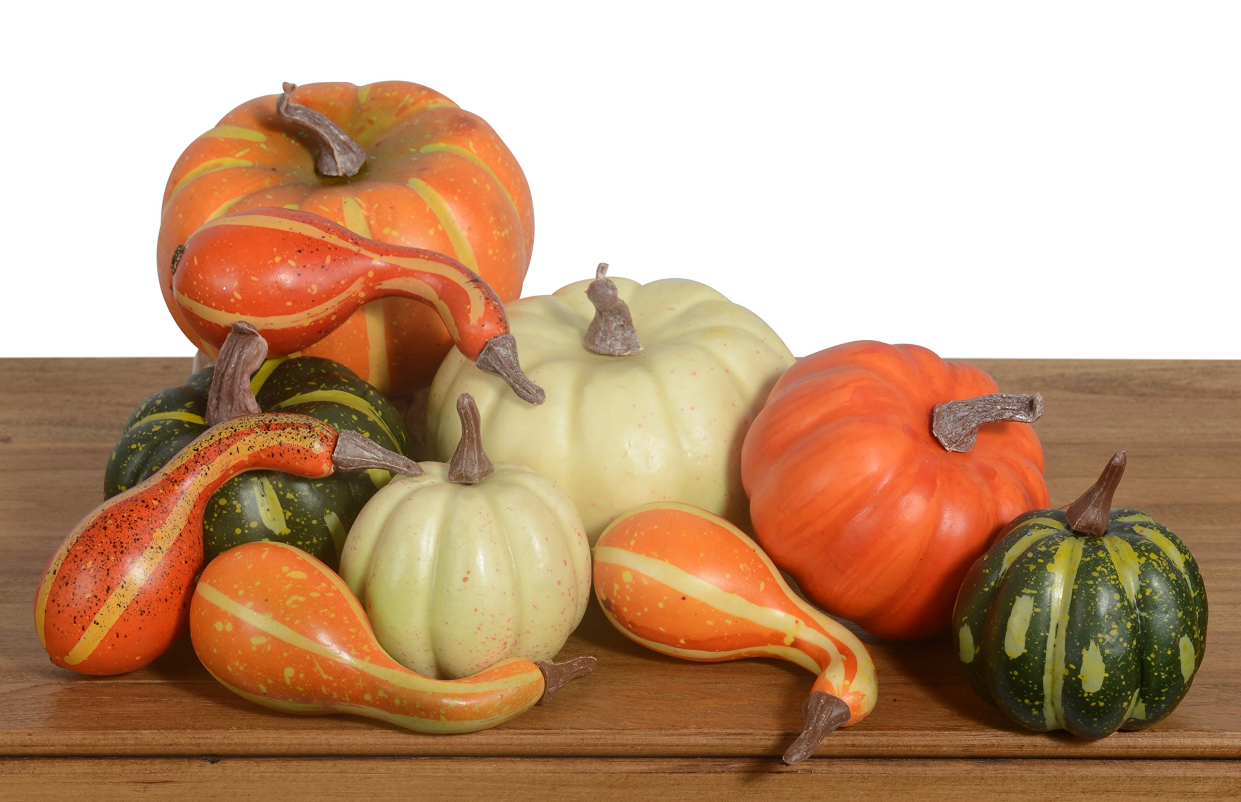 10 Piece Artificial Pumpkins and Gourds Bowl and Vase Filler by DE
