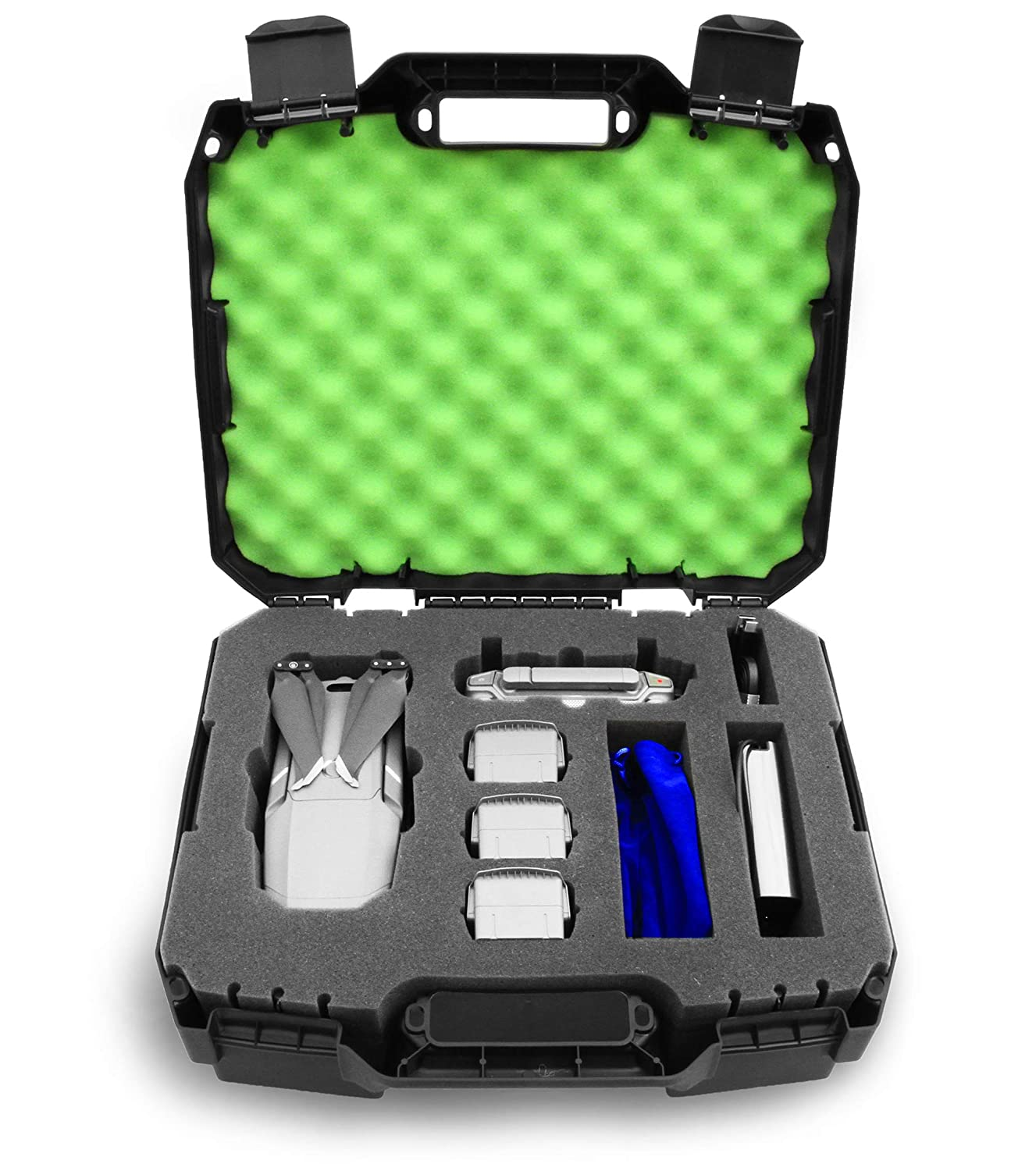 2018 Green CASEMATIX Rugged Hard Case Compatible with DJI Mavic Pro 2 Drone//DJI Mavic 2 Zoom and Accessories Includes CASE ONLY
