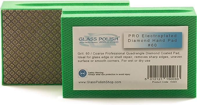 "6/"" 8000Grit Lapidary Glass Diamond Resin Smoothing Prepolishing Sanding Pad"