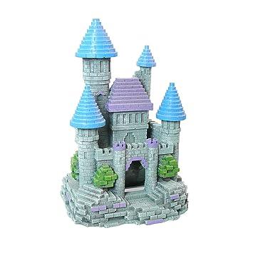 Rosewood - Adorno para Acuario, diseño de Castillo 3D, tamaño Grande ...
