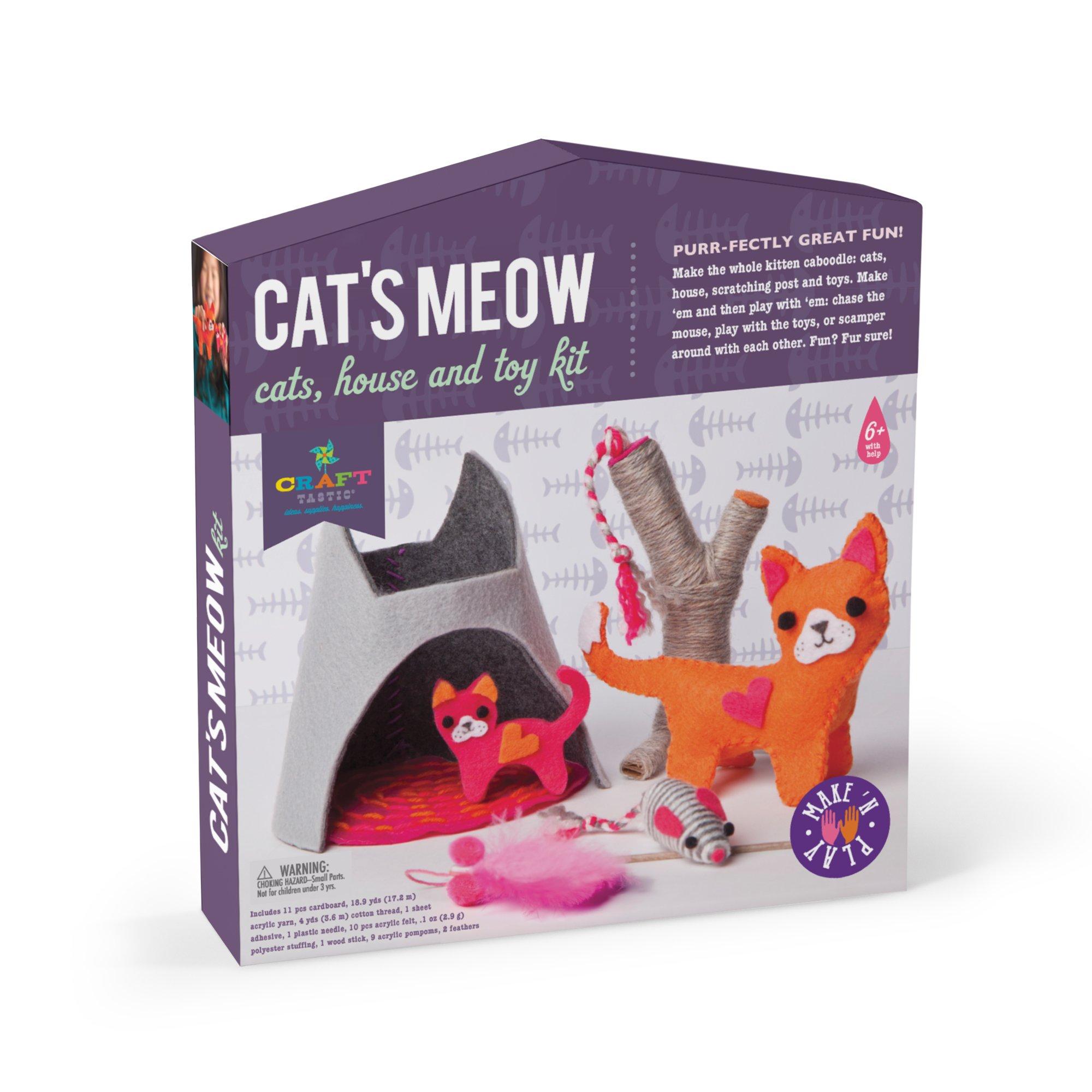 Craft-tastic Cat's Meow Make Play Craft Kit