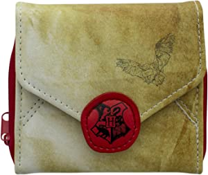 Harry Potter Hogwarts Letter Wallet - 4 Inch Coin Purse - Officially Licensed Harry Potter Merchandise