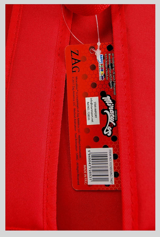 Miraculous 1029EEVAG-7407 Coccinella Zaino per bambini 3D 33cm