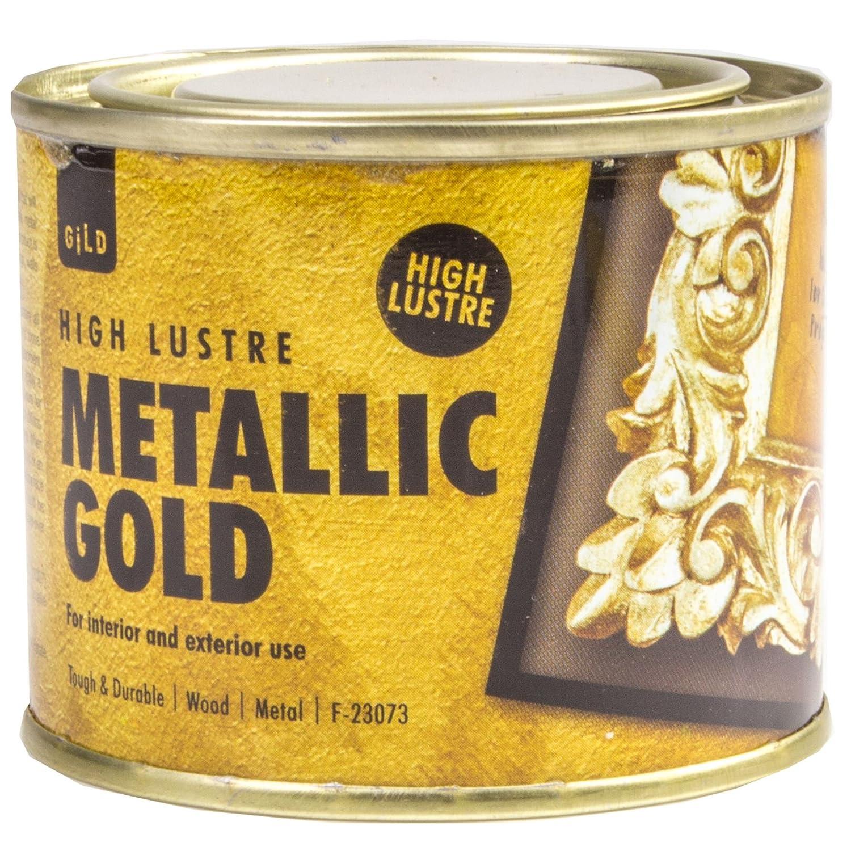 180 ml Hohe Glanz Metallic Gold Farbe – Holz/Metall innen & außen ...