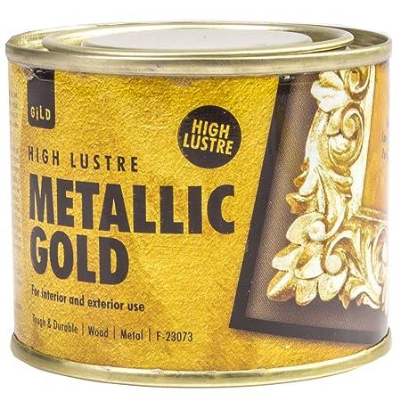180ml high lustre metallic gold paint wood metal interior