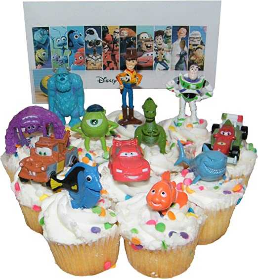 Astounding Amazon Com Disney Pixar Figure Cake Toppers Cupcake Party Favor Personalised Birthday Cards Epsylily Jamesorg