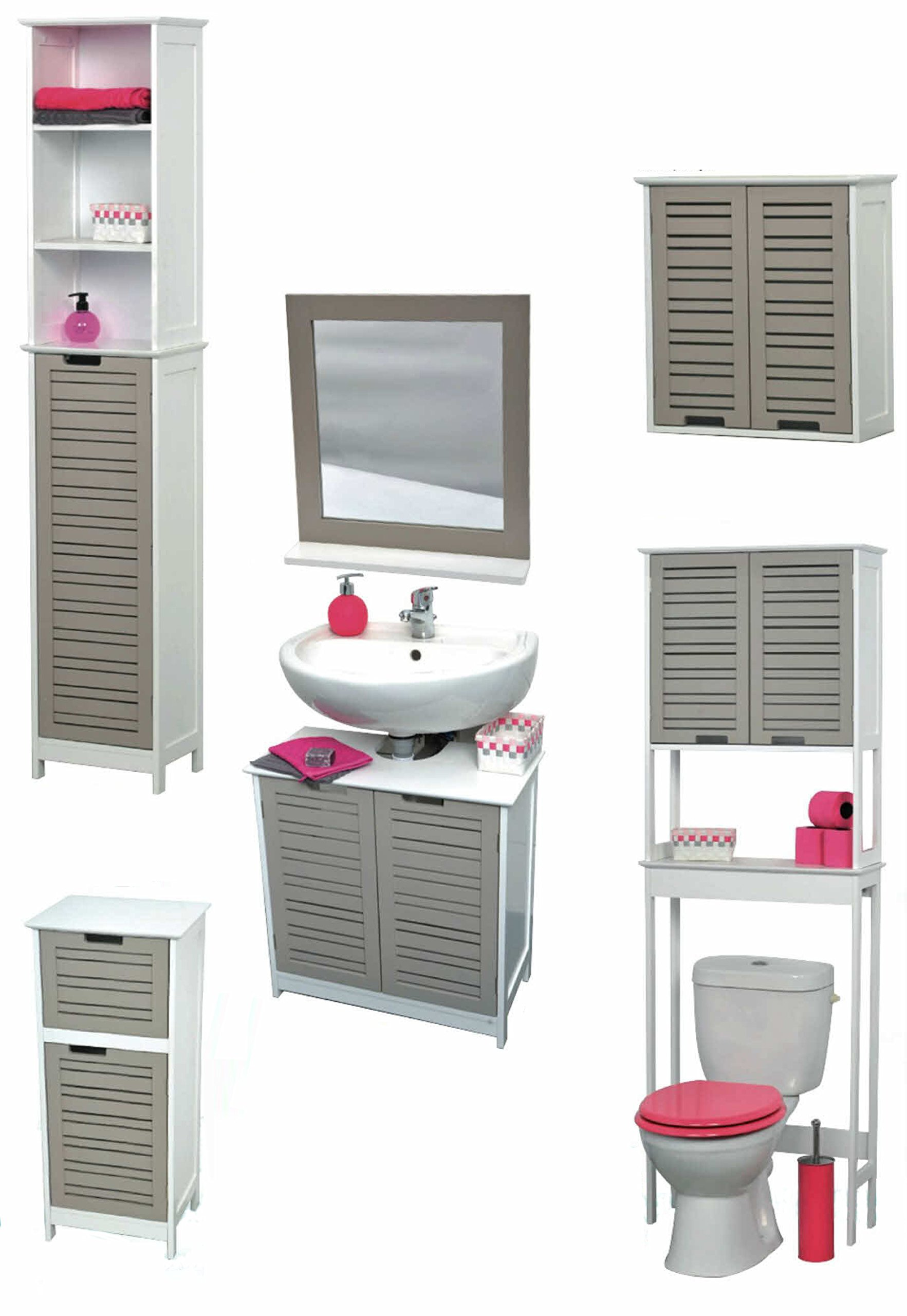 EVIDECO 9900302 Free Standing Non Pedestal Under Sink Vanity Cabinet Bath Storage So Romantic Taupe by EVIDECO (Image #5)