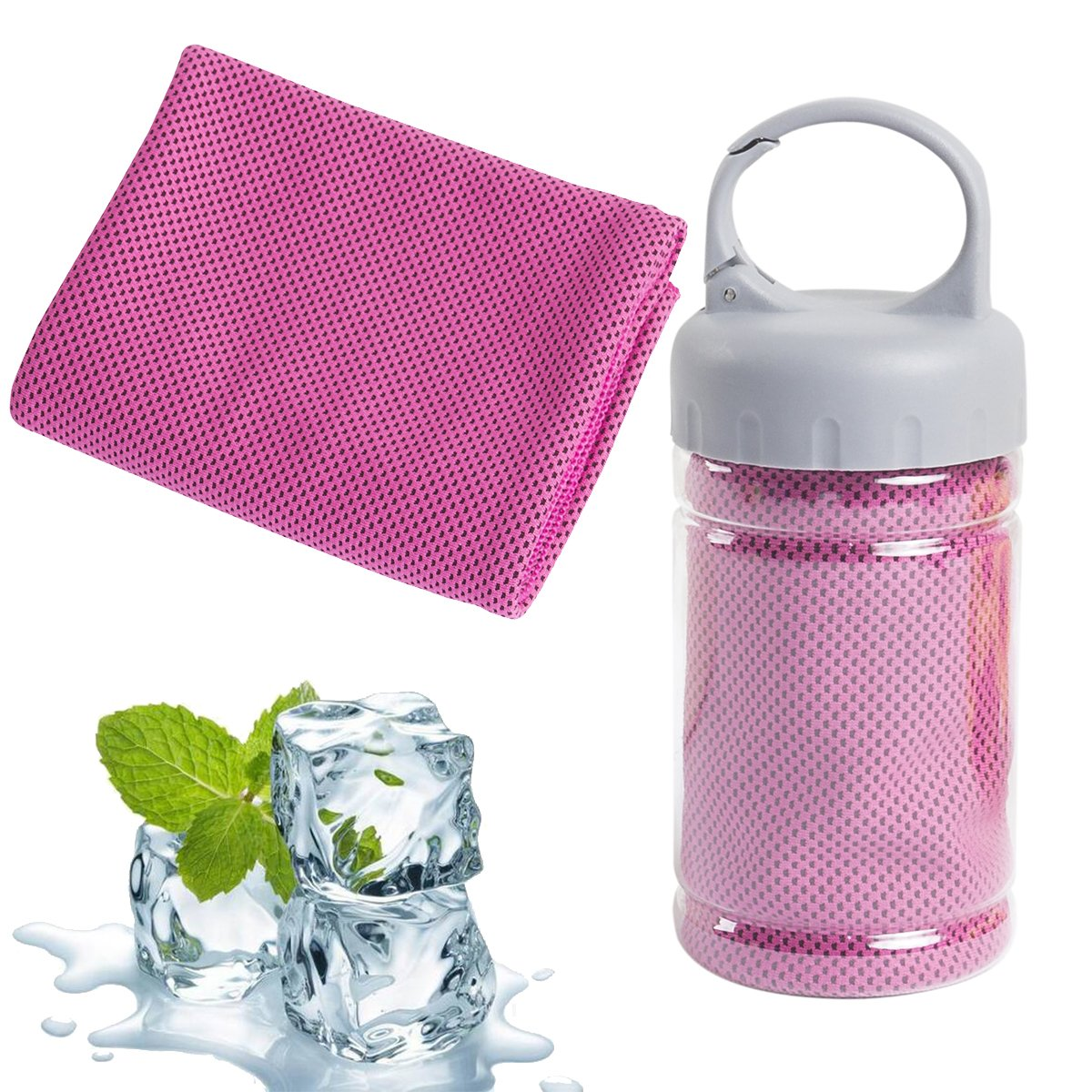 sky bule Gym Travel Workout Fitness Yoga Camping /& More Camping /& More Pilates Omenu Cooling Towel for Sports