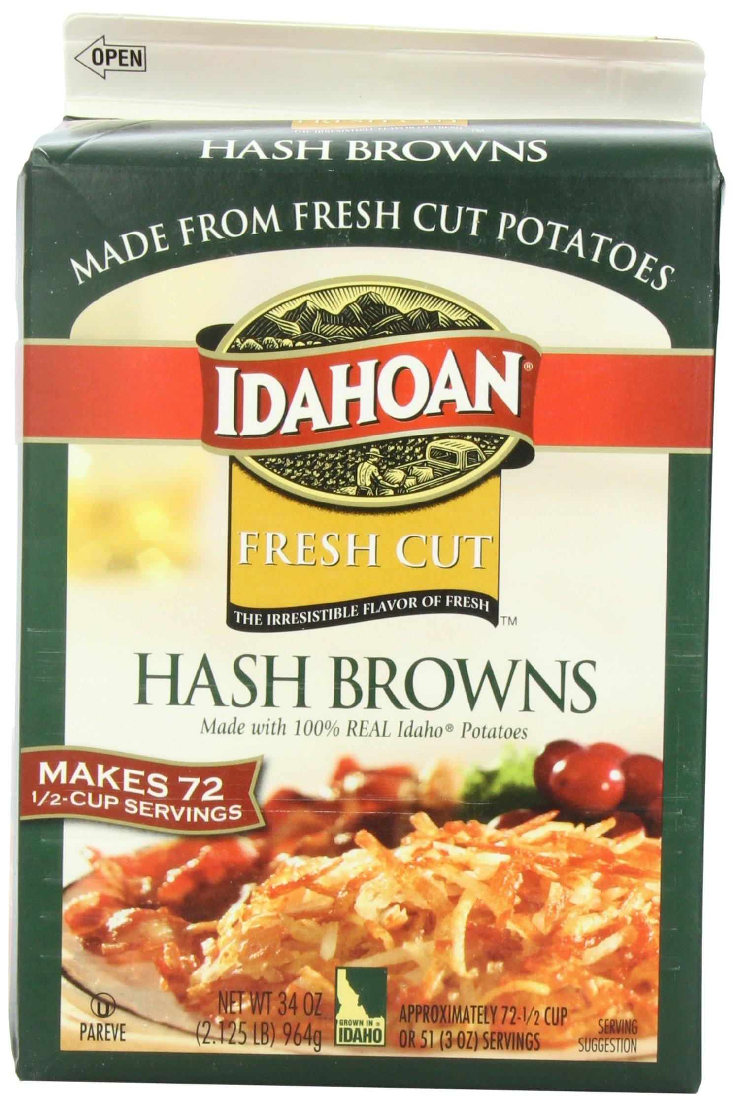 Idahoan Hash Browns, Fresh Cut, 2.125 Pound (Pack of 6)