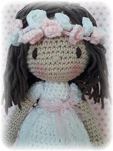 Muñeca crochet PERSONALIZADA COMUNIÓN Mariquilla.: Amazon.es: Handmade