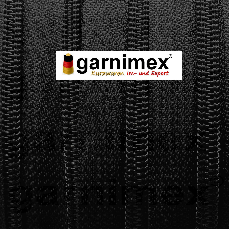 5 mm garnimex 039 con 24 Zip 8 m Colore: Nero Cerniera Infinita