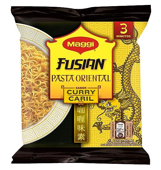MAGGI Fusian Pasta Oriental Noodles Sabor Curry - Fideos Orientales - Bolsa 71g (1 ración