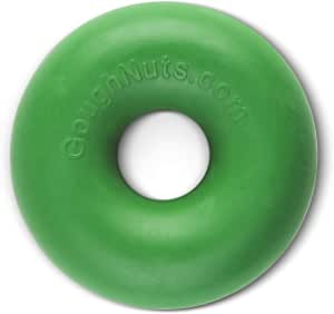 Goughnuts Original Medium Dog Chew Toy Ring for Aggressive Chewers from 30-70 Pounds. Durable Rubber Dog Chew Toy for Medium Breeds and Power Chewers Green, Orange, Black, and Black Pro 50