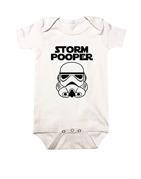 435aa08ecd8b Amazon.com  Star Wars Storm Pooper Baby Bodysuit  82  Clothing