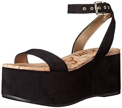 Sam Edelman Women's Henley Platform Sandal, Black, ...