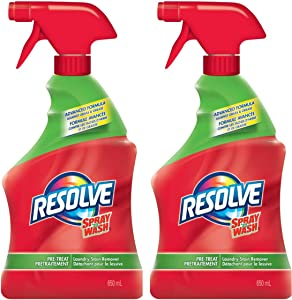 Resolve Spray 'n Wash Pre-Treat Laundry Stain Remover Trigger Spray - 22 Fl Oz / 650 mL x 2 Pack