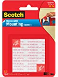 Scotch Foam Mounting Removable Squares, 1/2 x 1/2 Inch, 64 Squares (108-SML) (6-PACK)
