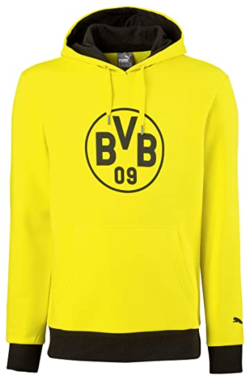 Puma BVB Borussia Dortmund Badge Hoody 17 18 - Kinder Kapuzensweat -  750126-02 b5e5bdeeee