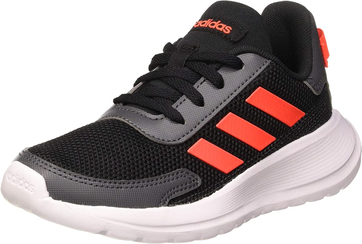 Adidas TENSAUR Run K, Zapatillas Running Unisex Infantil, Noir Rouge Solaire Gris Foncã, 28 EU: Amazon.es: Zapatos y complementos