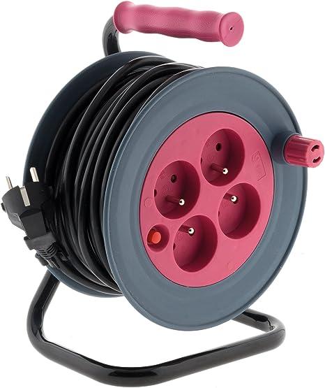 Zenirtech Enrouleur M/énager 15M 3G1 Mm/² Rose