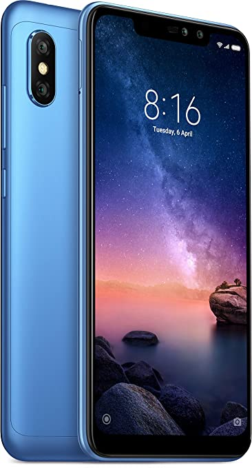 Xiaomi Redmi Note 6 Pro  Blue, 64  GB, nbsp;4  GB RAM  Smartphones